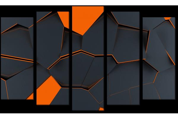 Абстракция ораньжевыми камнями