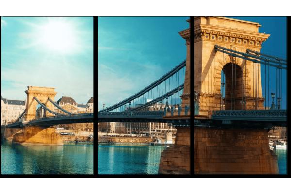 Висячий мост через Дунай