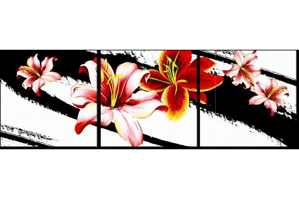 Лилии и черные линии
