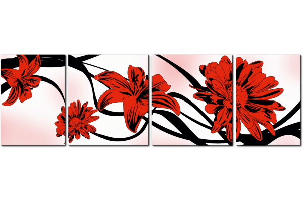 Лилии и герберы