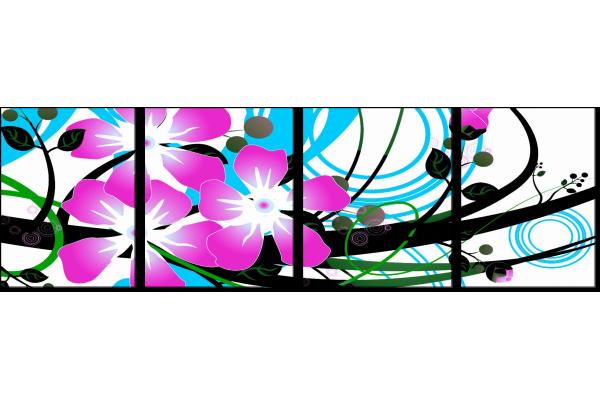 Арт из цветов