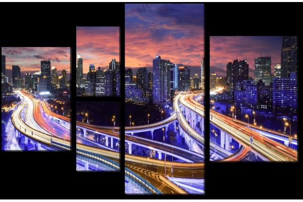 Дорога в мегаполисе