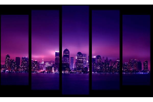 Фиолетовый город