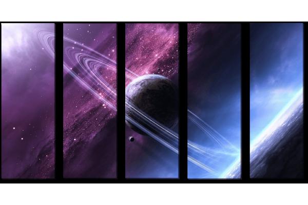 Вид на Сатурн