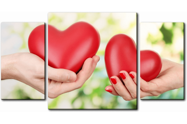 Два сердца в руках