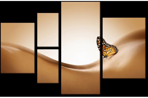 Бабочка на спине