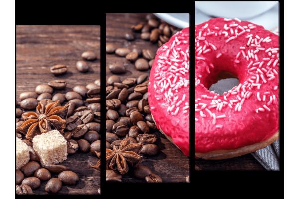 Кофе и пончик