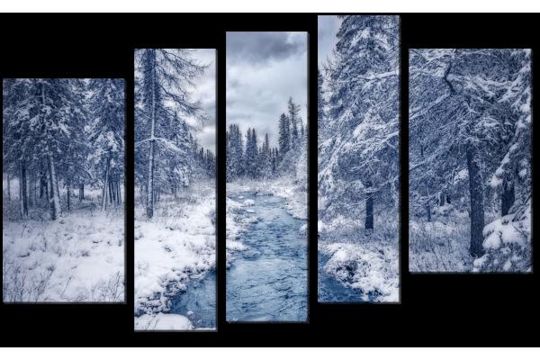 Снежная река